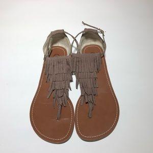 Carlos Santana Thong Sandals Taupe
